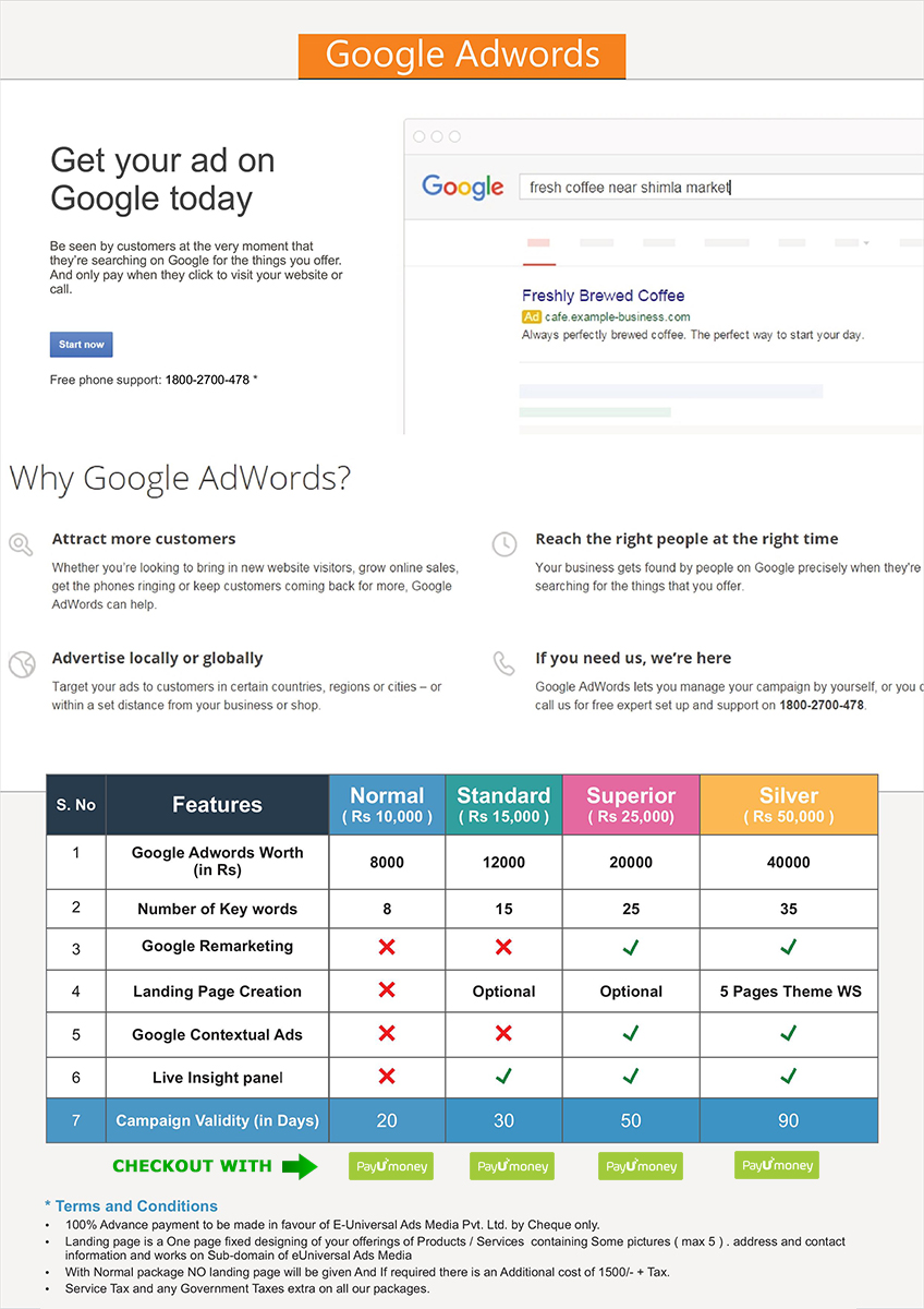 google adwords combo packages
